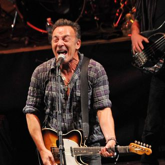 ASBURY PARK, NJ - JANUARY 14: Singer/songwriter Bruce Springsteen performs during the 2012 Light of Day Concert Series