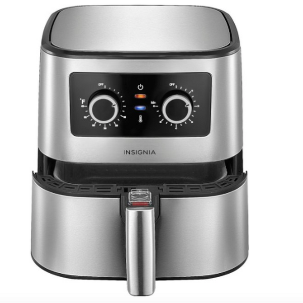 Insignia 5-qt. Analog Air Fryer Stainless Steel