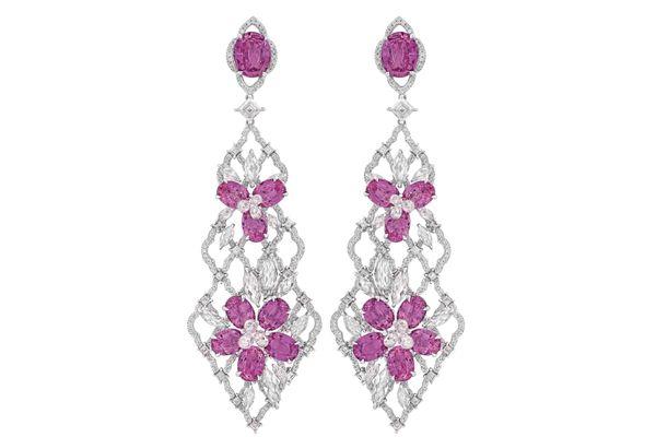 Nirav Modi Lilac Garden Earrings