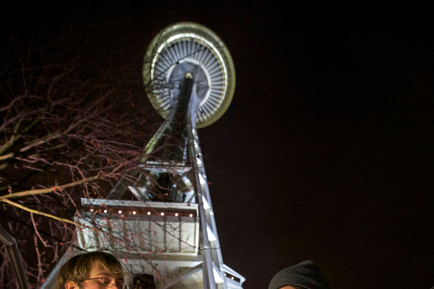 Dustin, left, and Paul of Tacoma, Washington, both of which declined to give their last names, share a water pip underneath the Space Needle shortly after a law legalizing the recreational use of  marijuana took effect on December 6, 2012 in Seattle, Washington.  Voters approved an initiative to decriminalize the recreational use of marijuana making it one of the first states to do so.