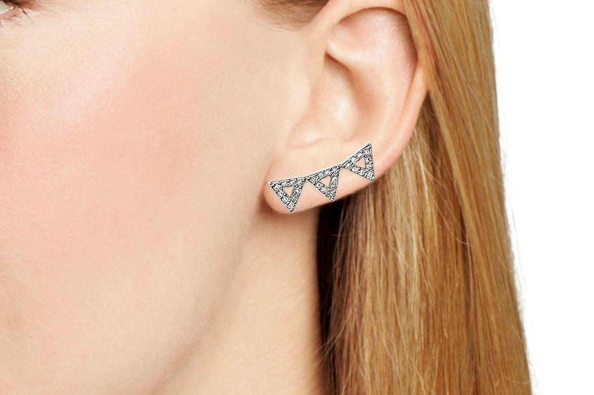 Rebecca Minkoff Triangle Ear Climbers