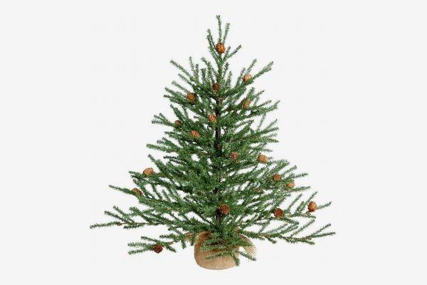 "Vickerman Unlit Carmel Pine Artificial Christmas Tree, 18"""