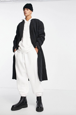 ASOS Design Oversized Quilted Trench Coat