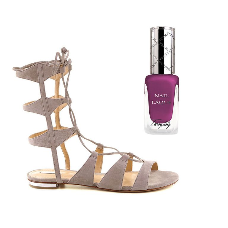 6b9d8a5ea20f8d Play up the fun summer trend of lace-up suede sandal with a smooth