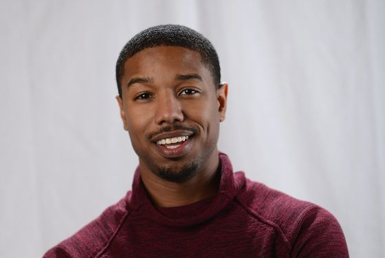 Actor Michael B. Jordan poses for a portrait at the photo booth for MSN Wonderwall at ChefDance on January 20, 2013 in Park City, Utah.  (Photo by Michael Buckner/Getty Images for Wonderwall)