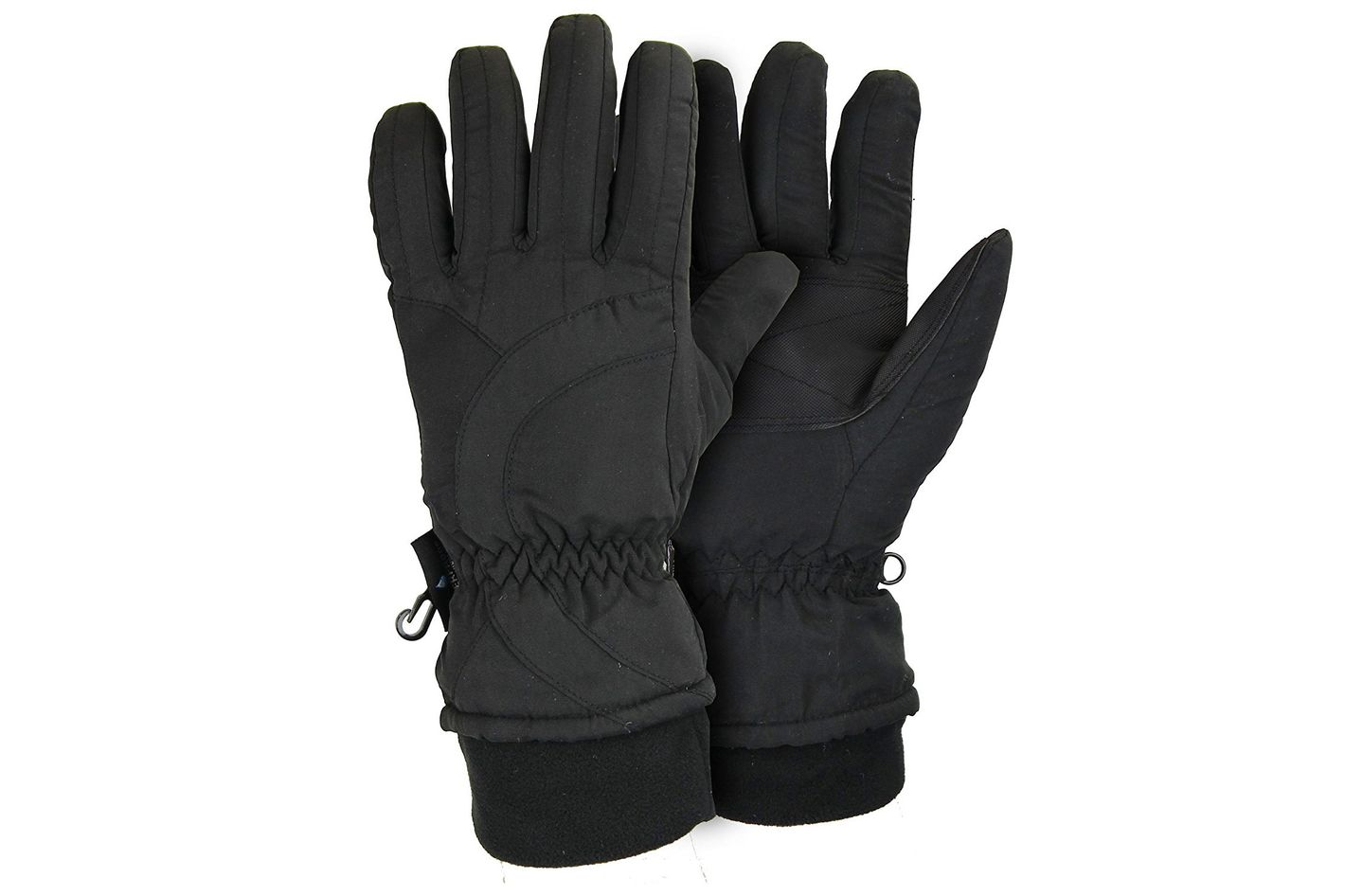 Women's Thinsulate Lined Waterproof Microfiber Winter Ski Gloves