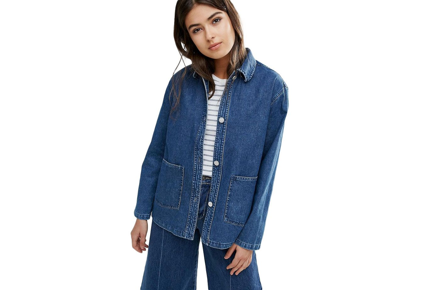 Wood Wood Nia Relaxed Denim Jacket