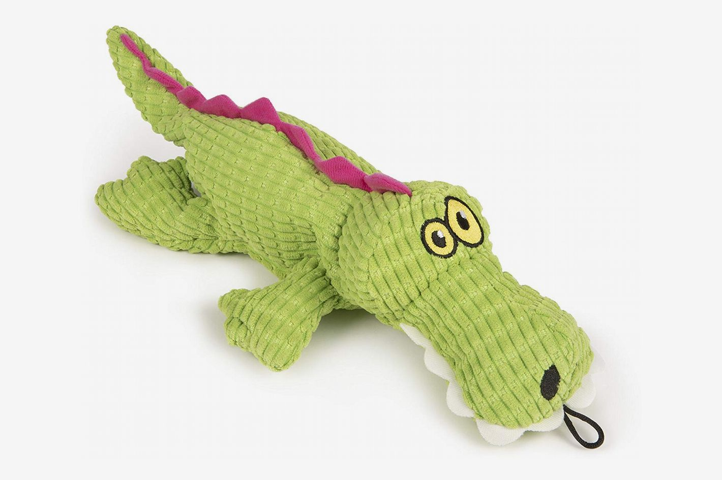 TrustyPup Gator Plush Dog Toy with Silent Squeaker