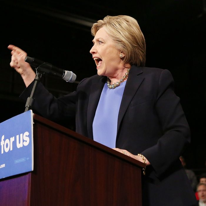 Hillary Clinton Holds Campaign Event In New York