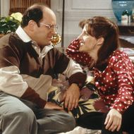 "SEINFELD -- ""The Cartoon"" Episode 13 -- Pictured: (l-r) Jason Alexander as George Costanza, Tracy Nelson as Janet  (Photo by Alice S. Hall/NBC/NBCU Photo Bank via Getty Images)"