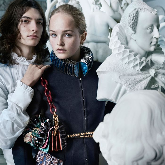 A look from Burberry's September collection.