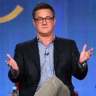 Host Joe Scarborough speaks onstage during the 'Morning Joe' panel during the NBCUniversal portion of the 2012 Winter TCA Tour at The Langham Huntington Hotel and Spa on January 7, 2012 in Pasadena, California.