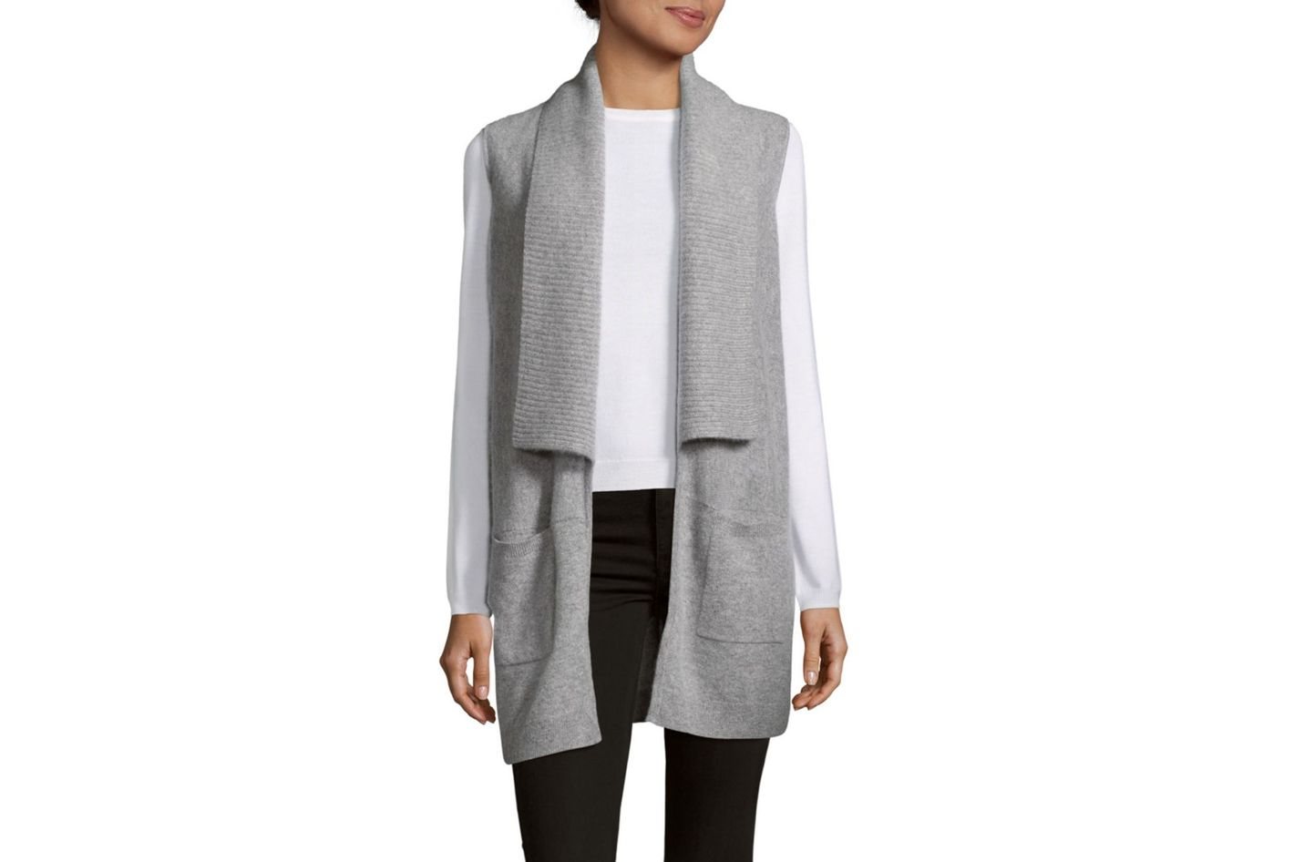 Saks Fifth Avenue Cashmere Ribbed Vest