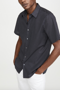 Theory Irving Witan Print Shirt