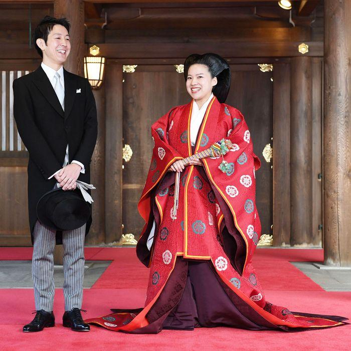 Kei Moriya and Princess Ayako.