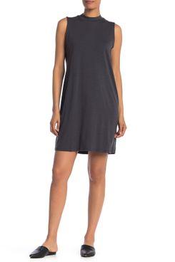 Eileen Fisher Sleeveless Mock Neck Dress
