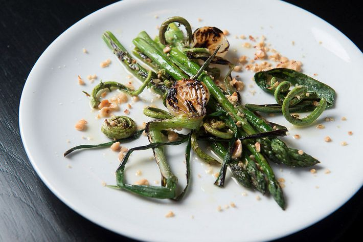 Rebelle's asparagus, spring onions, fiddlehead ferns — oh my!