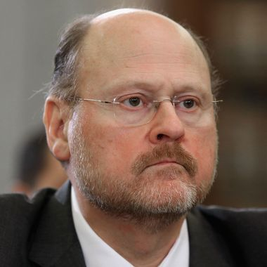 """Metropolitan Transportation Authority Chairman and CEO Joseph Lhota testifies during a Senate Surface Transportation and Merchant Marine Infrastructure, Safety, and Security Subcommittee hearing on """"Superstorm Sandy: The Devastating Impact on the Nation's Largest Transportation Systems."""" December 6, 2012 in Washington, DC. The heads of New York and New Jersey's mass transit systems testified before the subcommittee about the need for more federal dollars for Superstorm Sandy recovery."""
