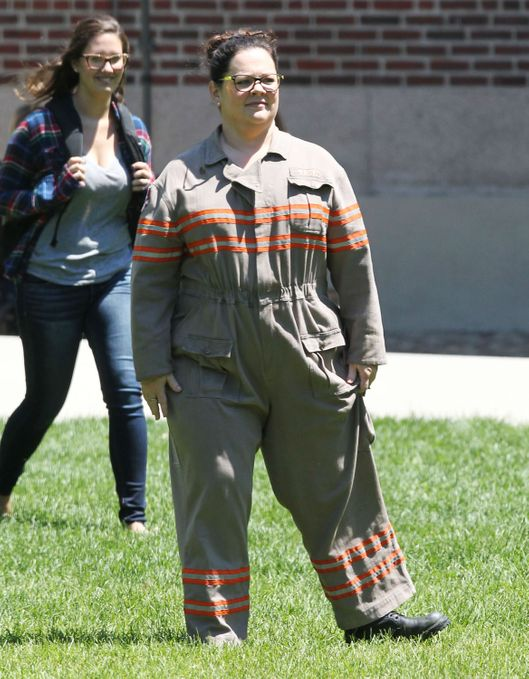 "Exclusive... Melissa McCarthy Debuts Her Uniform For ""Ghostbusters""  **NO INTERNET USE WITHOUT PRIOR AGREEMENT**"