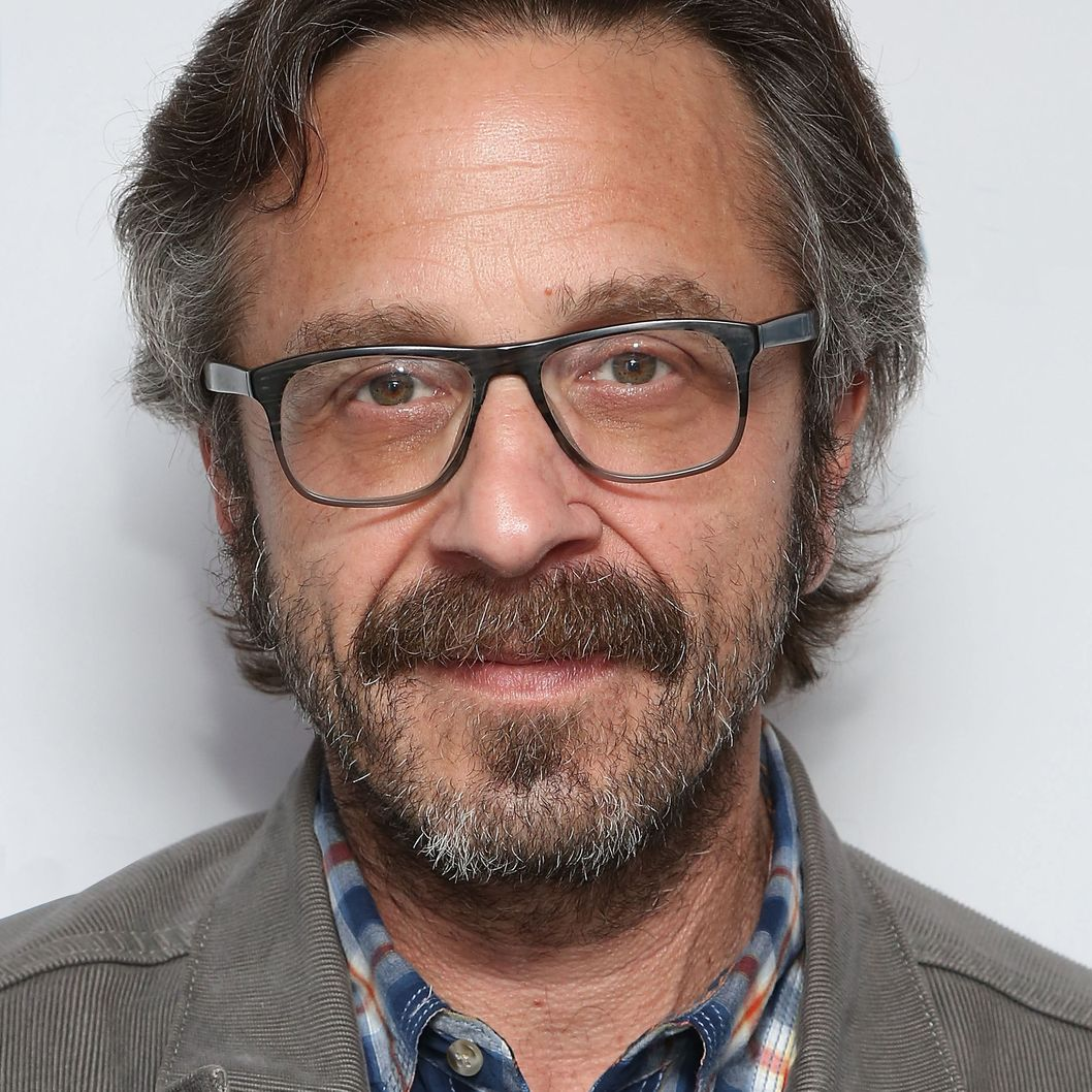 Radio personality Marc Maron visits the SiriusXM Studios on May 6, 2014 in New York City.