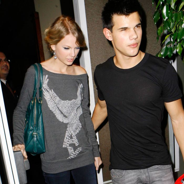 Taylor Swift and Taylor Lautner.