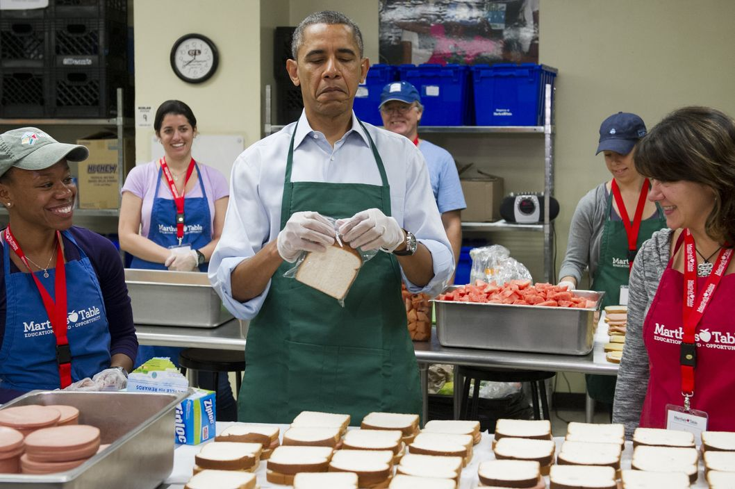 Obama Tweet Soup Kitchen