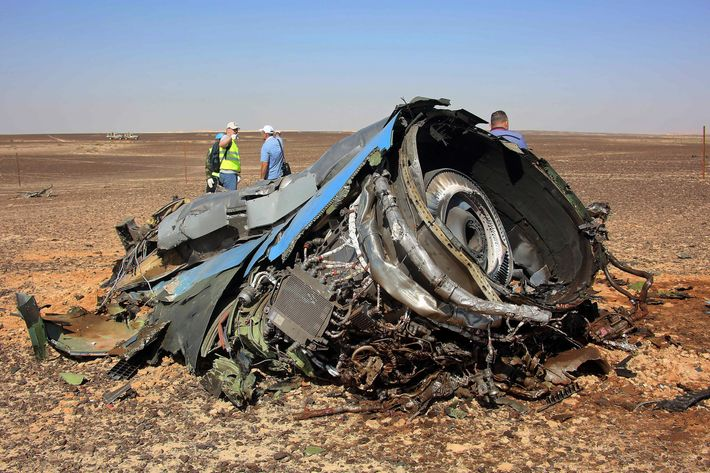 Russian airliner's crash site in Egypt's Sinai