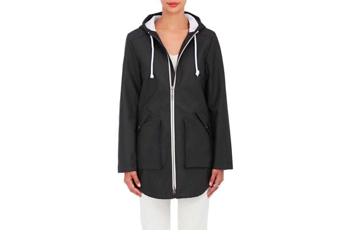 Barneys New York Zip Front Raincoat