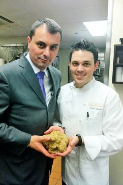 Gavin Kaysen, his GM, and a serious truffle.