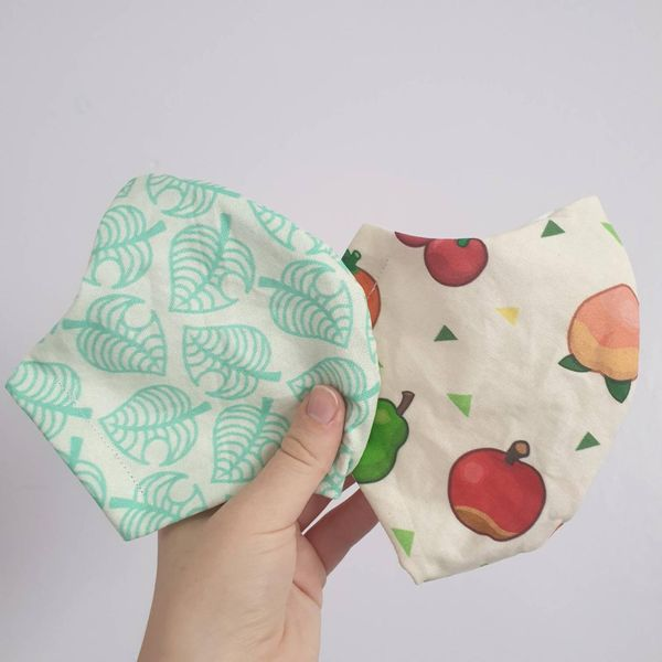 MollyMouseMakes Animal Crossing-Inspired Cotton Non-Medical Face Mask