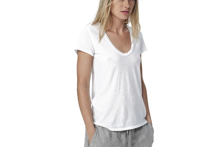 "3bb7e262 ""My face is round so my T-shirt has to have a round neck. It's a very  light, not sensitive fabric. In the summer I wear them with ..."