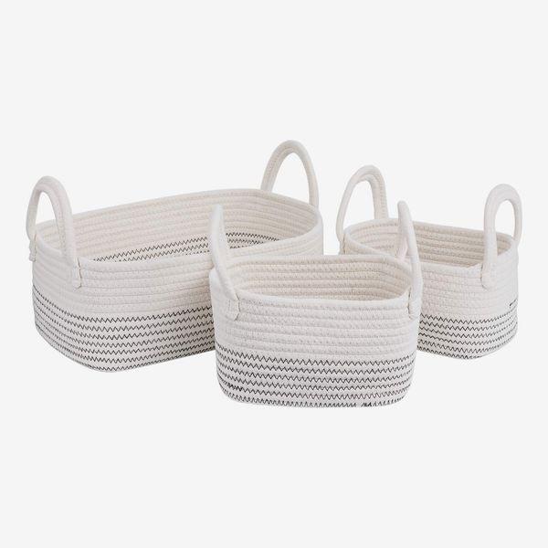 Cotton Rope Storage Baskets (Set of 3)