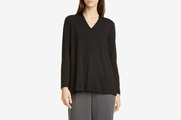 Eileen Fisher V-Neck Swing Top