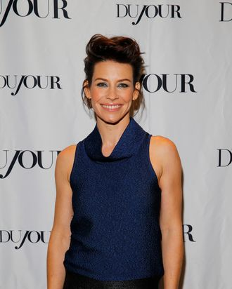 NEW YORK, NY - DECEMBER 11: Actress Evangeline Lilly attends Jason Binn and DuJour Magazine celebration of the opening of