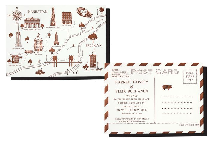 Best Postcard Wedding Invitations
