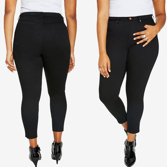 e16b2a01850 These Plus-Size Skinny Jeans Keep Me Contained Without Choking My Guts