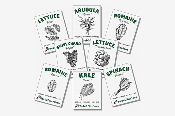 Rebel Gardens Organic Garden Greens Vegetable Seeds