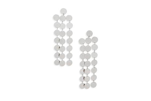 Nakamol Design Circle Chain Fringe Earrings