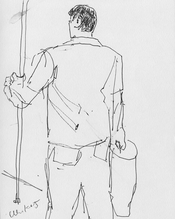 """best service d2e39 78f27 Alex Katz s revisiting of his 1940s """"Subway Drawings"""" for New York. Read  more here. Illustration  Alex Katz"""