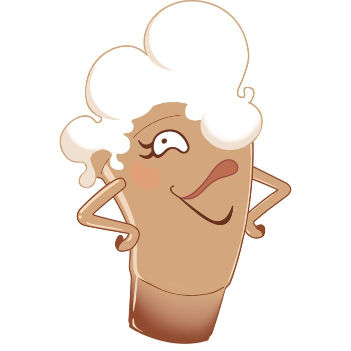 It's Linda, the egg-cream mascot.