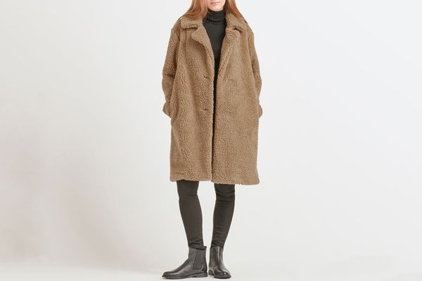 Uniqlo Women Pile-Lined Fleece Tailored Coat