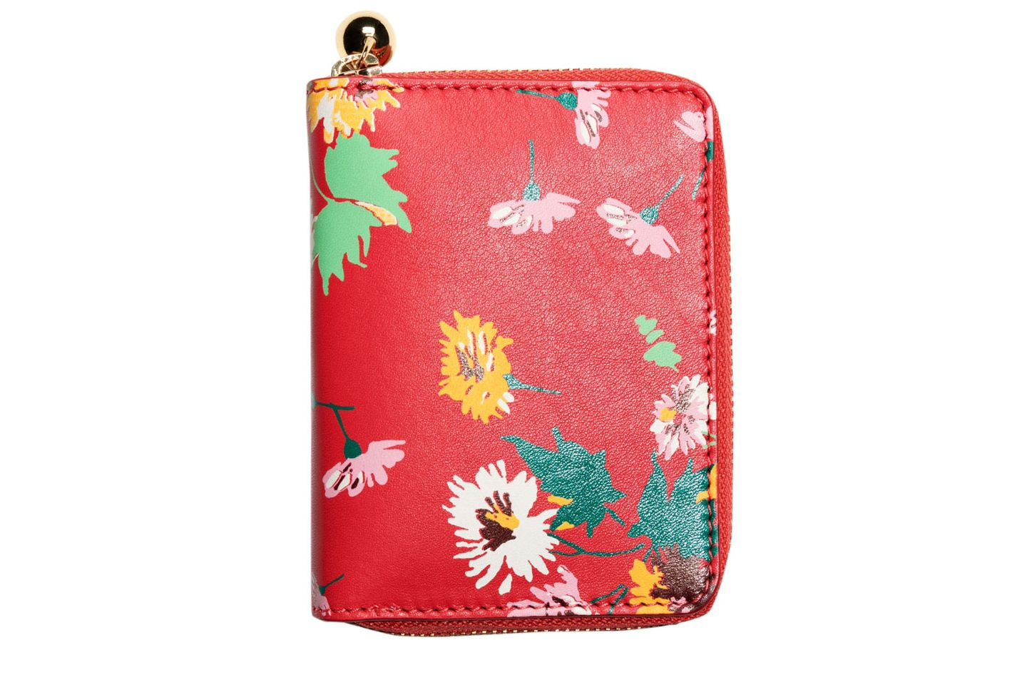 & Other Stories Floral Leather Wallet