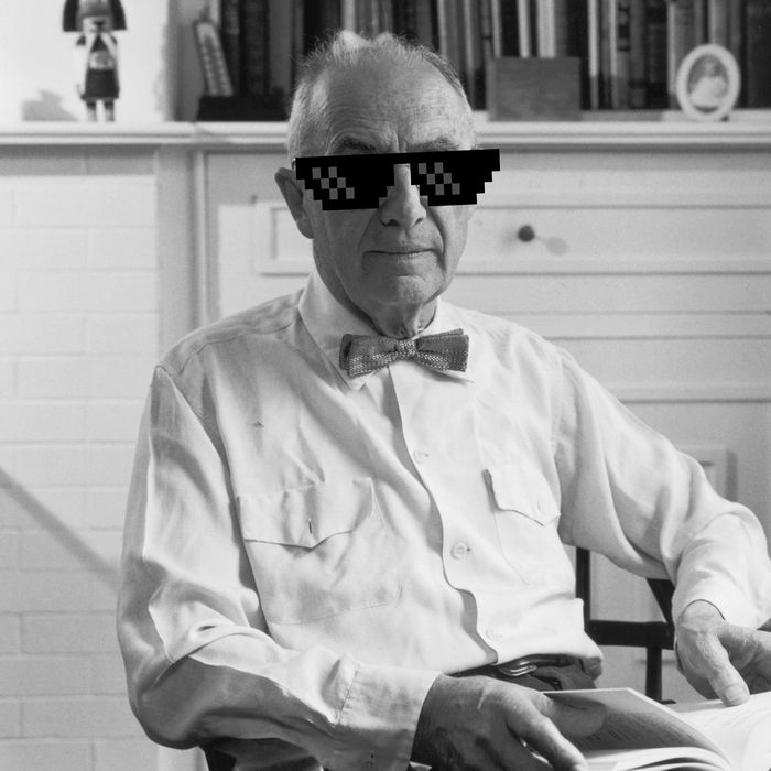 88a416932a34c circa 1955  Portrait of American poet William Carlos Williams sitting in  front of a bookcase with a book on his lap. (Photo by Hulton Archive Getty  Images) ...