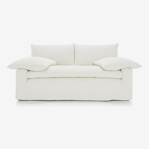 Crate & Barrel Ever Slipcovered Apartment Sofa