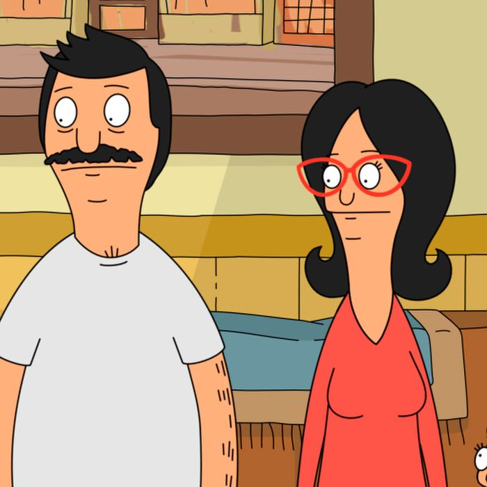 "BOB'S BURGERS: The Belcher family cheer Bob on, in his efforts to get in shape in the all-new ""Sliding Bob's"" season six premiere episode of BOB'S BURGERS airing Sunday, Nov. 2 (7:30-8:00 PM ET/PT) on FOX. BOB'S BURGERS ™ and © 2014 TCFFC ALL RIGHTS RESERVED."