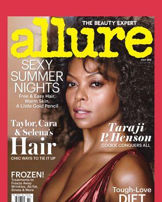 Taraji P. Henson on the cover of July's Allure.