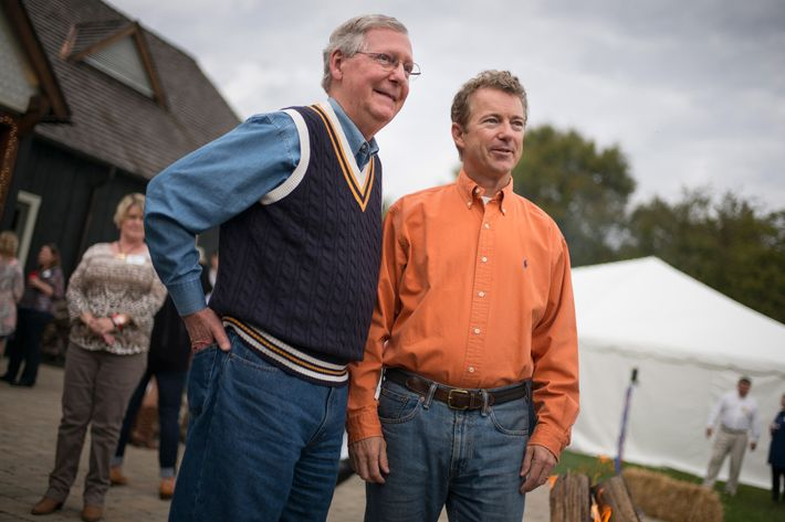 "BOWLING GREEN, KY - OCTOBER 12: ""On the Road with Senator Rand Paul"". Senator Rand Paul attends a BBQ event at the Donnelly Barn in Bowling Green, Kentucky on October 12th, 2014. (Photo by Charles Ommanney/Getty Images)"