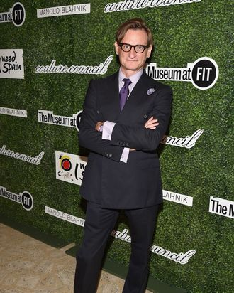 Hamish Bowles at the Couture Council's luncheon honoring Manolo Blahnik.