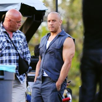 Vin Diesel is seen filming 'Fast and The Furious 7' on June 02, 2014 in Los Angeles, California.
