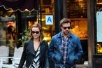 Olivia Wilde and Jason Sudeikis Snuggle at Josep